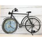 レトロ アンティーク 調 自転車 置時計 掛け時計 ヨーロピアン ビンテージ インテリア 時計
