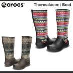 レディース クロックス サーマルーセント ブーツ Crocs Thermalucent Boot 長靴 レインブーツ