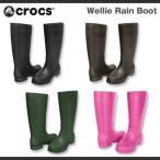 レディース クロックス ウェリー レインブーツ Crocs Wellie Rain Boot Women 長靴 レインブーツ