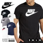 ナイキ Tシャツ メンズ NIKE 半袖 ウェア AR5004 コットン ロゴ M NSW TEE ICON FUTURA 大きいサイズ スポーツ クルーネック シンプル ブラック ティーシャツ*