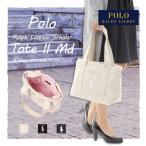 POLO ポロ ラルフローレン キャンバス トートバッグ スカラー ロゴ RALPH LAUREN SCHOLAR TOTE BAG II MD ホワイト ネイビー