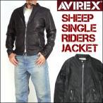 アビレックス AVIREX メンズ レザージャケット シープスキン シングルライダースジャケット 革ジャン 6171083 送料無料