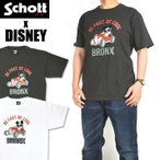 Schott x DISNEY ショット x ディズニー 半袖Tシャツ BRONX ミッキーマウス メンズ 3103134