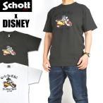 Schott x DISNEY ショット x ディズニー 半袖Tシャツ GO TO THE N.Y.C. ミッキーマウス メンズ 3103135