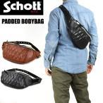 Schott ショット パデッド レザー ボディバッグ PADDED BODYBAG 3109023