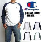 Champion チャンピオン メンズ Tシャツ ラグラン長袖Tシャツ 無地 ワンポイント C3-J425
