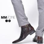 ビジネスブーツ サイドベルトブーツ ブーツ ビジネスシューズ PU革靴 メンズ 靴 紳士靴 ロングノーズ 2017 春 夏 春夏