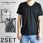 NUMBER (N)INE DENIM ナンバーナイン デニム Tシャツ パックT 2枚セット Vネック メンズ 2017 春 新春