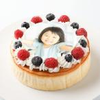 チーズスフレフォトケーキ5号送料無料:写真ケーキ/プリントケーキ/写真入りケーキ/画像ケーキ/誕生日ケーキ/バースデーケーキ/記念日/お祝い/内祝い/