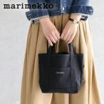 マリメッコ marimekko ミニトートバッグ MINI PERUSKASSI (ミニ ペルスカッシ) ネイビー/ブラック