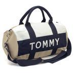当日発送対象外 トミーヒルフィガー TOMMY HILFIGER ボストンバッグ(ショルダー付)  6922644:カーキ×ホワイト×ネイビー