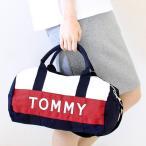当日発送対象外 トミーヒルフィガー TOMMY HILFIGER ボストンバッグ(ショルダー付) 6922644:ネイビー×ホワイト×レッド