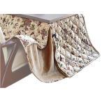 ハイタイプこたつ布団/ダイニングコタツふとん 正方形90×90巾こたつ用 薄掛け布団 ロリスFH90 ベージュ色 ハイタイプ