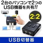 サンワダイレクト USB切替器 手動 2 2  パソコン2 USB機器2  400-SW022