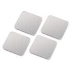 ノートパソコン 冷却パッド 激冷(43mm 角型 4枚入り iPad タブレットPC対応 シルバーASSA-7-2 )(即納)