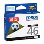 ICBK46 エプソン EPSON 純正インクカートリッジ ICBK46 ブラック サッカーボール 46 (ネコポス対応)