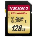 SDカード 128GB Class10 UHS-I U3対応 Transcend社製 U3シリーズ SDXCメモリーカード 永久保証(TS128GSDU3)(即納)