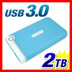 外付けHDD 2TB ポータブル ハードディスク HDD StoreJet 25M3 外付けハードディスク USB3.0対応 Transcend社製 TS2TSJ25M3B 3年保証(即納)
