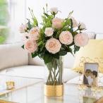 造花 インテリア  ローズバンチ お洒落 雑貨 ナチュラル 飾り 部屋装飾 花束 ブーケ フェイクグリーン プレゼント ギフト