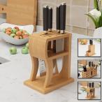 包丁スタンド 包丁差し 包丁ホルダー ナイフスタンド  竹製  包丁立て ナイフ収納 調理小道具たて キッチンラック 台所用品 キッチン収納 多機能