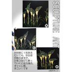 木彫りアート スカルプチャーアートパネル カラーの花 3枚セット モダン 絵画 壁掛け 木製 アジアン雑貨 インテリア 60×60 送料無料