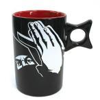 取っ手が手裏剣 影マグ 白刃取り(しらはどり)マグカップ