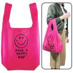メール便可・スマイル エコバッグECO BAG SMILE PINK(ニコちゃんマーク)
