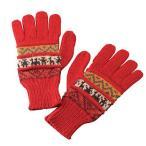 [5400円以上で送料無料] ペルーお土産 | アルパカ 手袋 レッド 【919031】