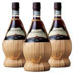 ショッピングイタリア [送料無料] イタリアお土産 | キャンティフィアスコ 赤ワイン 3本セット【R71005】