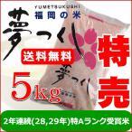 米 5kg 夢つくし 福岡県産 平成29年産