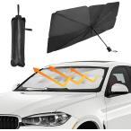 【送料無料】サンシェード フロントガラス 傘式 傘型 車用 折りたたみ 日除け 日よけ UVカット 紫外線カット コンパクト 紫外線対策 遮光 断熱 フロントカバー