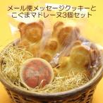【メール便】送料無料メッセージクッキー&こぐまマドレーヌ3個セット