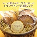 【メール便】送料無料メッセージクッキー&レモンマドレーヌ3個セット