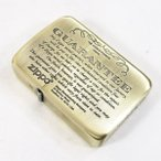 ジッポー ライター 1941復刻版 #1941ギャランティ柄 真鍮古美 41GRT-BS