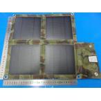 ショッピング工作 <アウトドア用防水 リュックにつける太陽電池 出力USB 5V バッテリーなし>430mm×350mm 5V2000mA 重さ400g 4枚 折畳み 迷彩<psp-520>