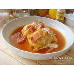和食器 sara-ceraレシピ 〜クリーミーなコクあるロールキャベツ〜 刷毛目パスタ皿  (お取り寄せ商品)