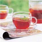 グラス ガラス食器 ガラスのハーブティーカップ&ソーサー