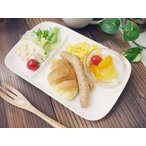 洋食器 アウトレットOUTLETクリーミーホワイト 強化 ランチプレート 白 仕切り 二つ仕切 23.5cm