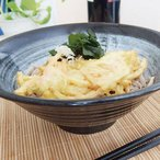 和食器 黒陶風雲 ラーメン丼