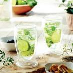 グラス ガラス レンジOK耐熱二層ガラスで温度を保つ!ニュイnuit ペアサ−モグラス(N)