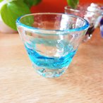 グラス ガラス 涼やか琉球ガラス トロピカルぐいのみ 水 (お取り寄せ商品)