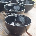 ショッピング和 5個セット モダン黒ブラック 銀彩ポカポカ春さくらの舞 桜 お茶碗 ご飯茶碗 セット 和食器 食器 福袋