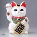 白小判猫7号右手 ギフト箱入り 金運招き猫