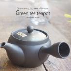 お茶が美味しい 常滑焼 手描き 黒泥青白花急須 ティーポット ステンレス製茶こしアミ 和食器 食器