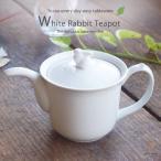 白いうさぎポット 白い食器 急須 洋食器 陶器 和食器 紅茶 ティーポット おしゃれ 茶漉し付