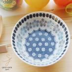 美しいボレスワヴィエツの街 ブルーフラワー フルーツヨーグルトボール 13.5cm (ポタリー風,ポタリーフィールド,北欧 花柄 リバティプリント 美濃焼 小鉢