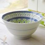 美しいボレスワヴィエツの街 ポタリーフィールド グリーンフラワー ご飯茶碗(大)