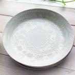 ラッキーオールジャパンエンボス 多用深皿 中皿 やっぱり大好き!パスタ カレープレート 22.5cm(※単品) 和食器 和皿 和風 丸皿 パスタ カレー皿