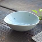 波佐見焼 赤と青のぷちどっと 楕円 オーバル小鉢 13cm(レッド ブルー 水玉)和食器 和風