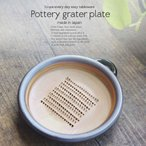 和食器 そのまま卓上でおろし器 天目錆おろし皿  大 12.7cm 陶器 美濃焼 テーブル 大根おろし しょうが にんにく 食器 小皿